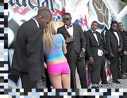 black on blondes gangbang